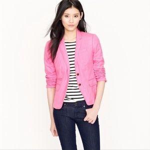 J. Crew Pink Classic Schoolboy Blazer